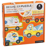 Le Petit Collage Rescue Vehicles Beginner Puzzle