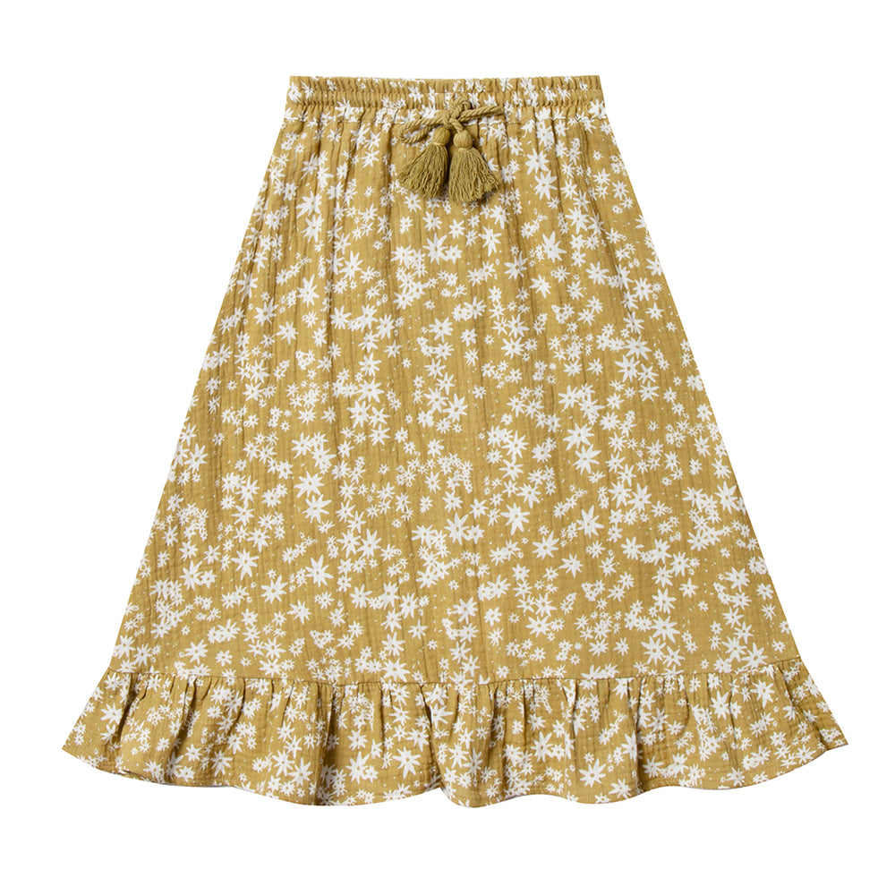 Rylee & Cru Ruffle Midi Skirt Scattered Daisy (Last Sizes 2-3 & 4-5Y)