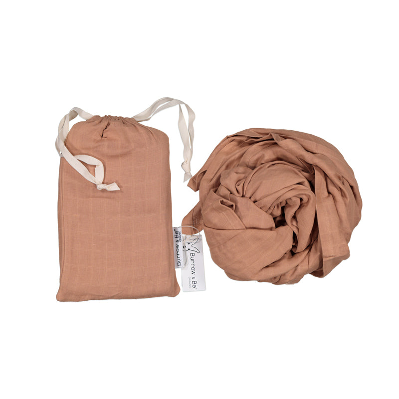 Burrow & Be Essentials Muslin Wrap Tawny Brown