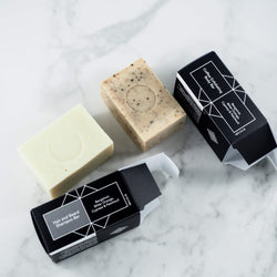 Rituels Soap Duo - 100% Natural Exfoliating Shower Soap and Bar Shampoo for Hair and Beard