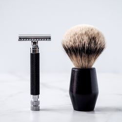 Rituels Shaving Set with Safety Razor, Shaving Brush, Stand, and Blades