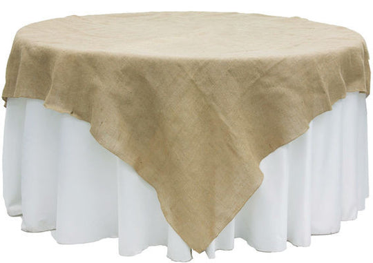 Burlap Table Overlays