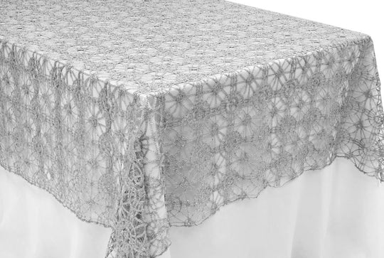 Chemical Embroidery Lace Table Overlays