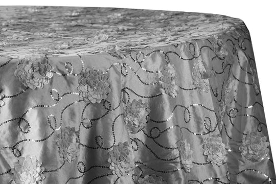 Flower Sequin Taffeta Table Linens