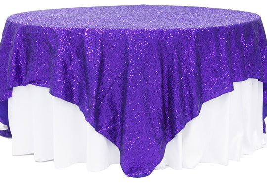 Solid Glitz Sequin Table Overlay
