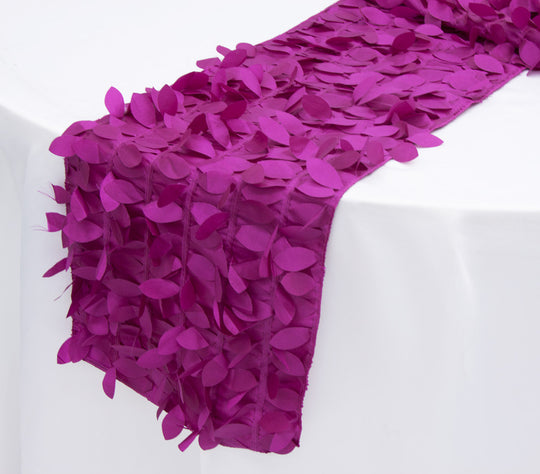 Leaf Petal Taffeta Table Runners