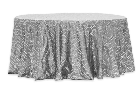 Mermaid Scale Sequin Taffeta Table Linens