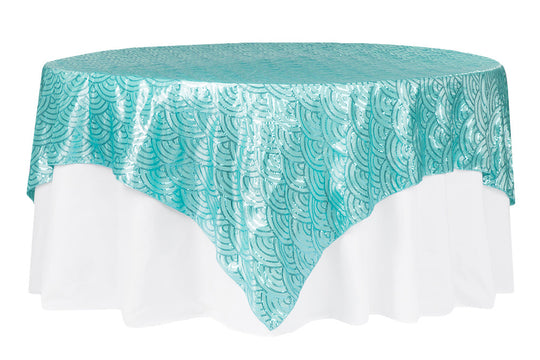 Mermaid Scales Sequin Taffeta Table Overlays