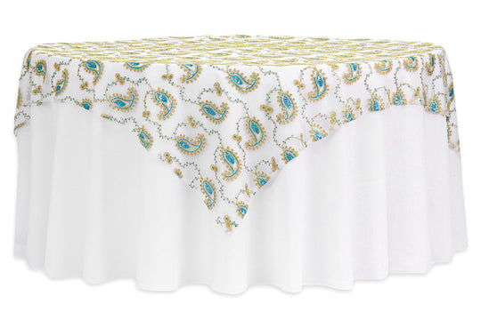 Paisley Sequin Table Overlays