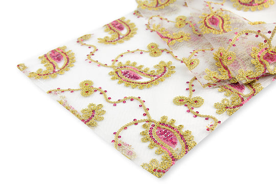 Paisley Sequin Table Runners