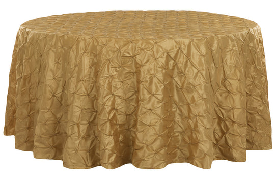 Pinched Wheel Taffeta Table Linens