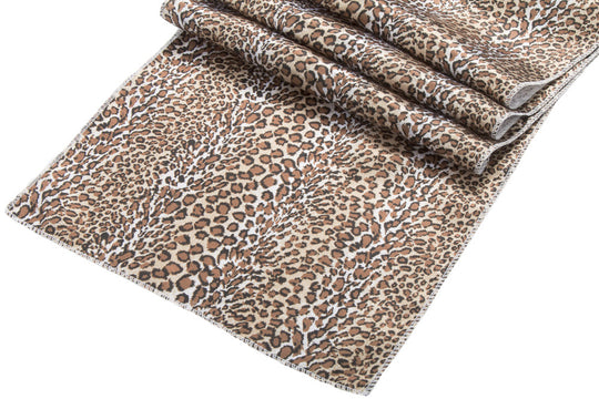 Leopard Print Satin Table Runner