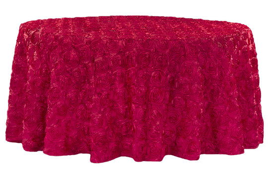 Satin Rosette Table Linens