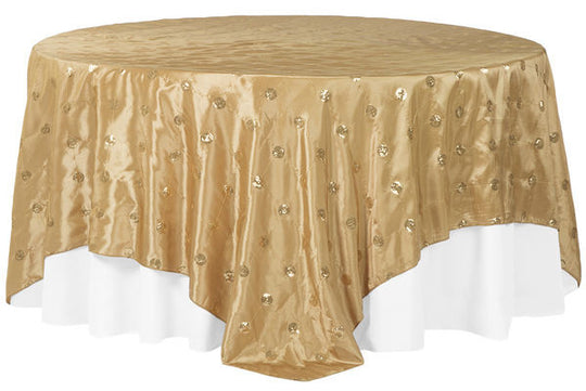 Sequin Circle Embroidery Table Overlays
