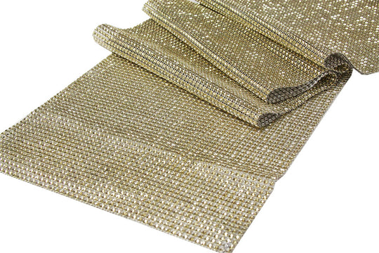 Rhinestone Mesh Table Runners