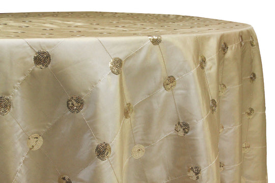 Sequin Embroidery Taffeta Table Linens