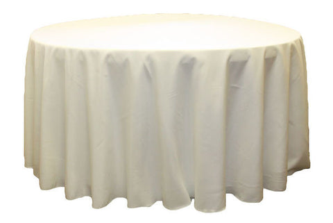 Polyester Round Table Linen - Ivory