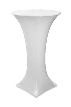 High Cocktail Table Linens - Round White