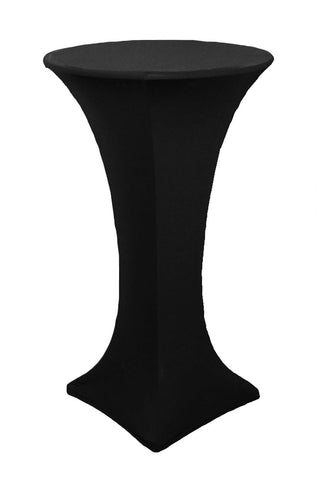 High Cocktail Table Linens - Round Black