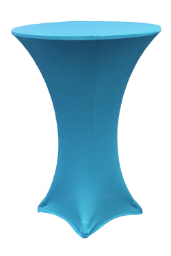 High Cocktail Table Linens - Round Aqua Blue