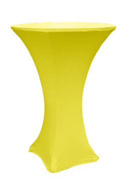 High Cocktail Table Linens - Round Bright Yellow