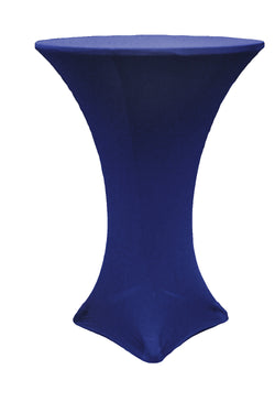 High Cocktail Table Linens - Round Navy Blue
