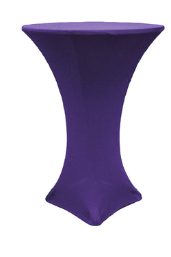 High Cocktail Table Linens - Round Purple