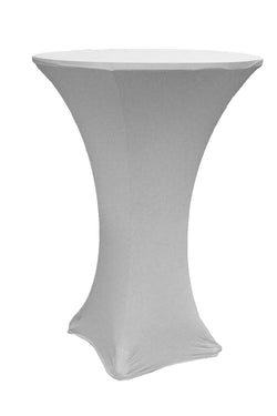 High Cocktail Table Linens - Round Silver
