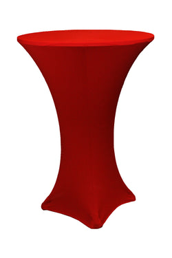 "High Cocktail Table Linens - 30"" Round Apple Red"