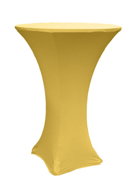 High Cocktail Table Linens - Round Gold