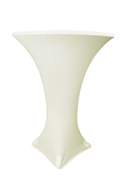 High Cocktail Table Linens - Round Ivory