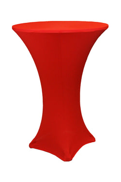 High Cocktail Table Linens - Round Red