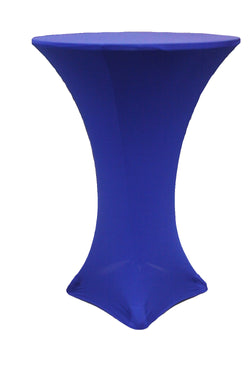 High Cocktail Table Linens - Round Royal Blue