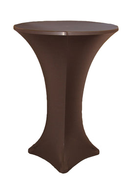 High Cocktail Table Linens - Round Chocolate Brown