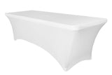 Rectangular Spandex Table Linens - Ivory