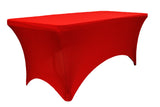 Rectangular Spandex Table Linens - Apple Red
