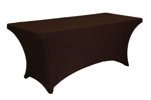Rectangular Spandex Table Linens - Chocolate Brown