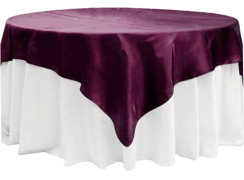 Satin Table Overlay - Sangria