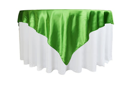 Satin Table Overlay - Kelly Green