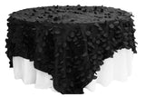 Petal Circle Taffeta Table Overlay - Silver