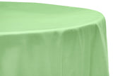Taffeta Round Table Linen - Plum