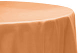 Taffeta Round Table Linen - Orange