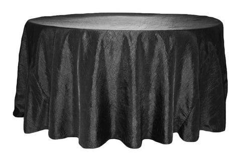 Terrific Crinkle Taffeta Round Table Linens Eggplant Plum The Machost Co Dining Chair Design Ideas Machostcouk