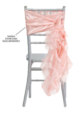 Curly Willow Chair Sashes - Blush Rose/Gold