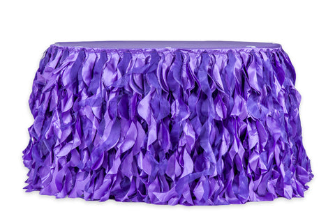 Curly Willow Table Skirt - Purple