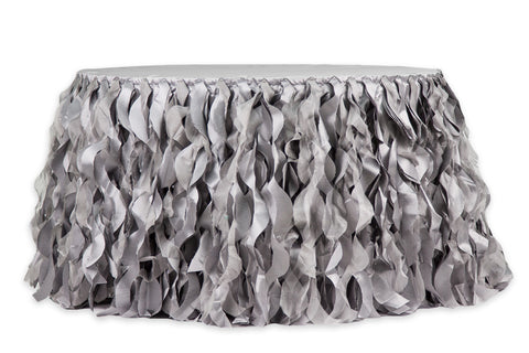 Curly Willow Table Skirt - Silver