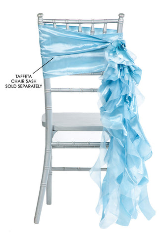 Curly Willow Chair Sashes   Baby Blue