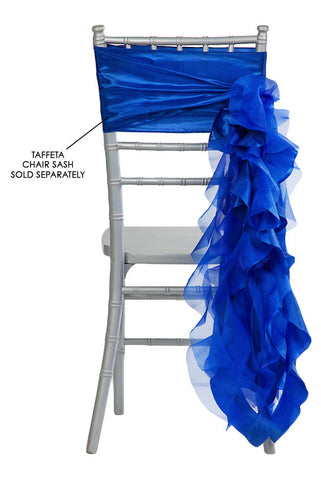 Curly Willow Chair Sashes   Royal Blue