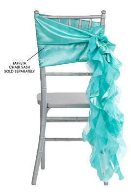 Curly Willow Chair Sashes   Turquoise