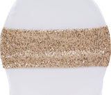 Glitz Sequin Spandex Chair Band - Blush/Rose Gold